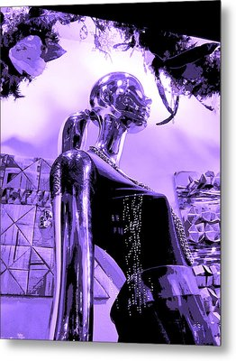 Dreams In Shades Of Purple Metal Print by Kym Backland