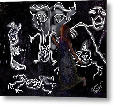 Dreamwalker Strange Encounters In Your Sleep Metal Print by Mimulux patricia no No