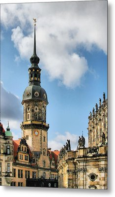 Dresden Hausmannsturm - Housemann Tower Metal Print by Christine Till