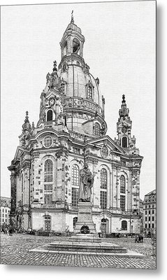 Dresden's Church Of Our Lady - Reminder Of Peace Metal Print