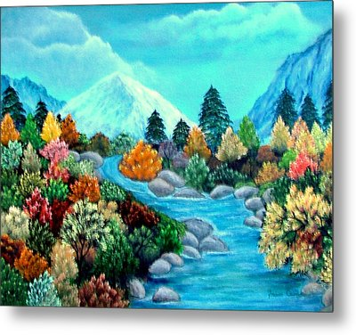Dressed For Fall Metal Print by Fram Cama