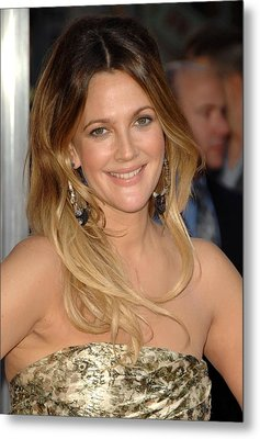 Drew Barrymore At Arrivals For Going Metal Print by Everett