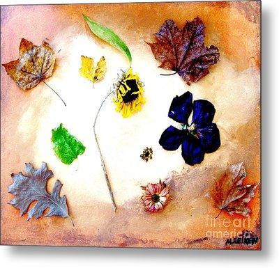 Dried Flowers And Leaves Metal Print by Marsha Heiken