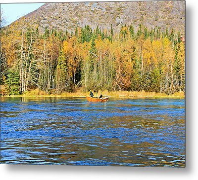 Drift Fishing The Kenai Metal Print