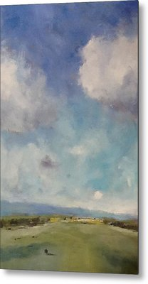Drifting Clouds Over Arreton Valley Metal Print by Alan Daysh
