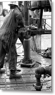 Drilling For Gold Metal Print by Jason Drake