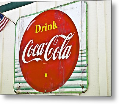 Drink Coca Cola Metal Print by Susan Leggett