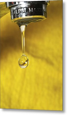 Dripping Tap Metal Print by Photostock-israel