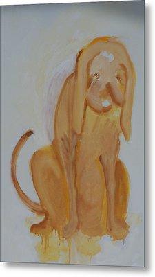 Drippy Dog Metal Print by Jay Manne-Crusoe