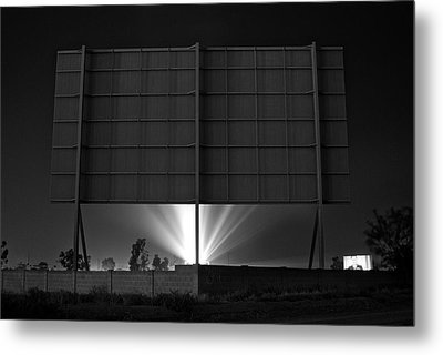 Drive-in Theater - After The Dust Storm Metal Print by Nick Florio