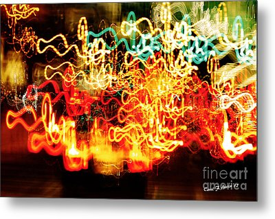 Painting With Light  Home For The Holidays Metal Print by Carol F Austin