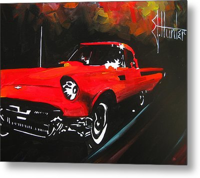 Driving In The Fall Metal Print by Jeff Hunter