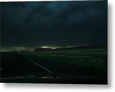 Driving Rain Number One Metal Print