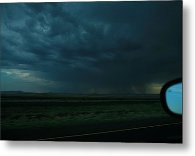 Metal Print featuring the photograph Driving Rain Number Two by Lon Casler Bixby