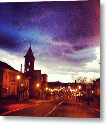 Driving Through Lancaster Oh Metal Print