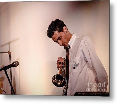 Droid- Jordan Mcclean On Trumpet Metal Print by Jim DeLillo