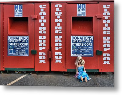 Metal Print featuring the photograph Drop Box by Steven Richman
