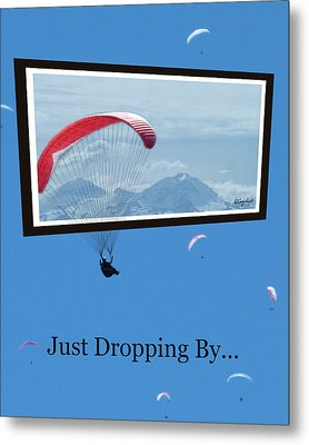 Dropping In Hang Gliders Metal Print by Cindy Wright