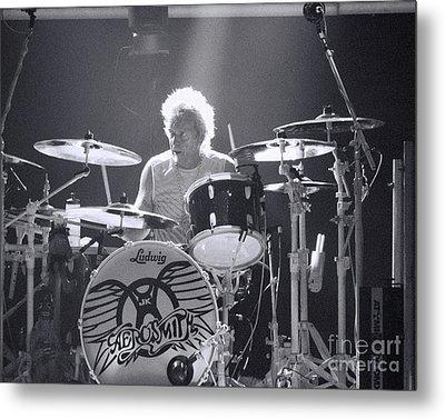 Drumming Metal Print by Traci Cottingham