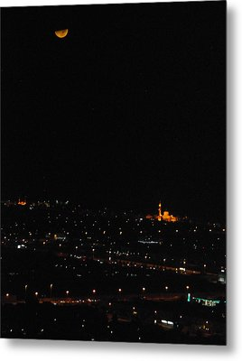 Metal Print featuring the photograph Dubai At Night by Steven Richman