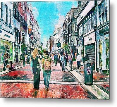 Dublin Grafton Street Metal Print by Yury Malkov