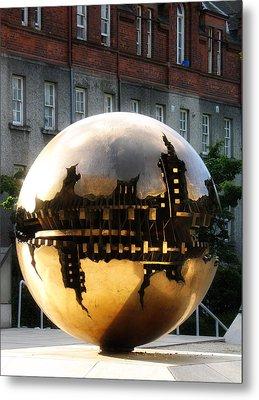Dublin Trinity College Sculpture Metal Print by David Harding
