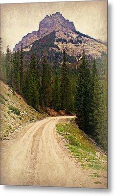 Dubois Mountain Road Metal Print by Marty Koch
