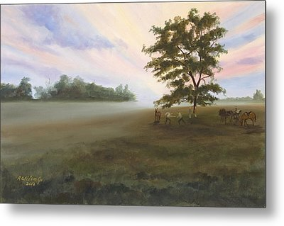 Duel At Dawn Metal Print by Karen Wilson