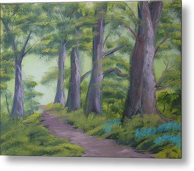 Metal Print featuring the painting Duff House Path by Charles and Melisa Morrison