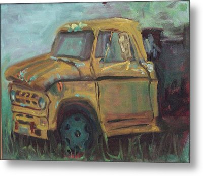 Metal Print featuring the painting Dump Truck by Carol Berning