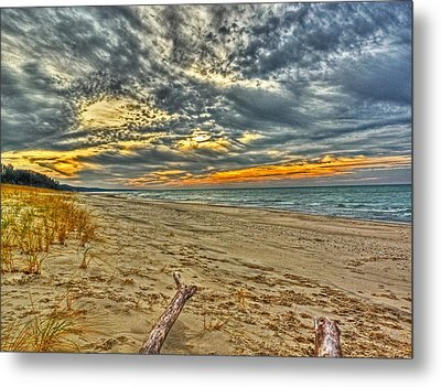 Metal Print featuring the photograph Dunes Sunset I by William Fields