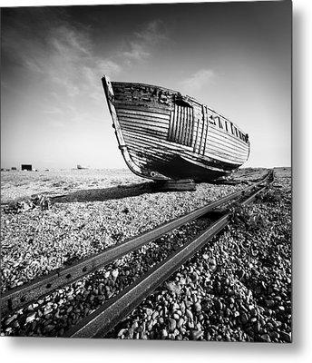 Dungeness Ship Wreck Metal Print by Nina Papiorek