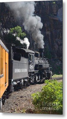 Durango And Silverton Historic Train Metal Print by Stuart Wilson and Photo Researchers