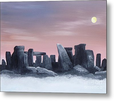 Dusk On The Winter Solstice At Stonehenge 1877 Metal Print by Alys Caviness-Gober