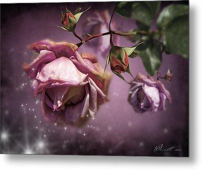 Dusky Pink Roses Metal Print by Svetlana Sewell
