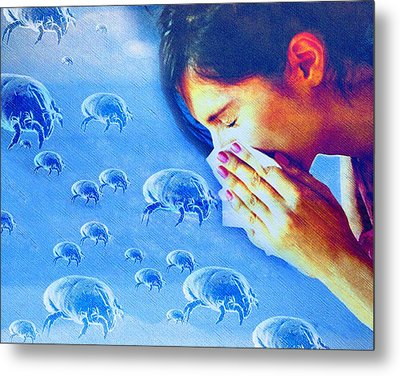 Dust Mite Allergy, Conceptual Artwork Metal Print by Hannah Gal