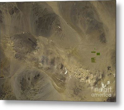 Dust Storm In Southern California Metal Print by Nasa