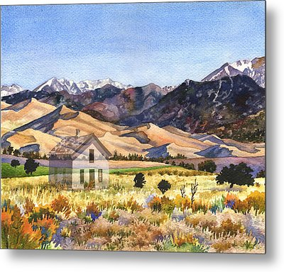 Dust To Dust Sand Dunes Metal Print by Anne Gifford