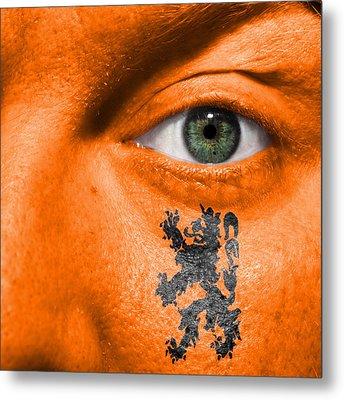 Dutch Lion - Coat Of Arms Metal Print by Semmick Photo