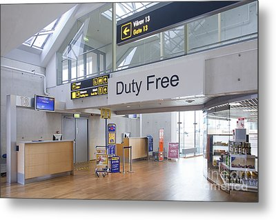 Duty Free Shop At An Airport Metal Print by Jaak Nilson