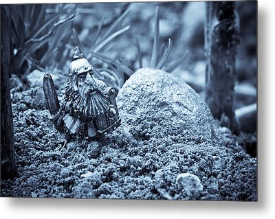 Dwarf Lost In The Enchanted Forest Metal Print by Marc Garrido