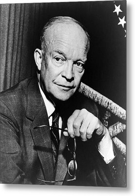 Metal Print featuring the photograph Dwight D Eisenhower - President Of The United States Of America by International  Images