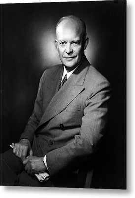 Metal Print featuring the photograph Dwight Eisenhower - President Of The United States Of America by International  Images