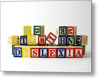 Dyslexia Metal Print by Photo Researchers, Inc.
