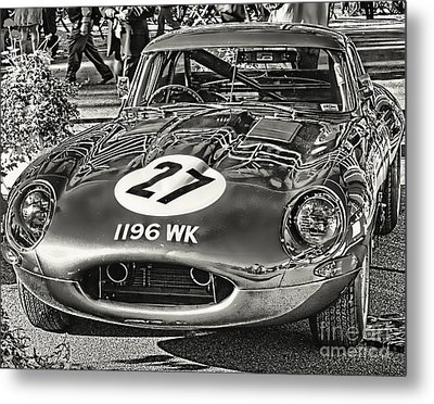 Metal Print featuring the photograph E-type Jaguar - Bw I by Jack Torcello