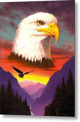 Eagle Metal Print by MGL Studio - Chris Hiett