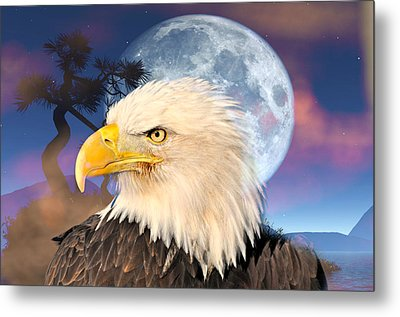 Eagle Moon Metal Print by Marty Koch