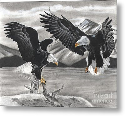 Eagles Metal Print by Christian Conner