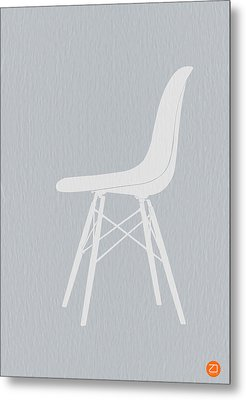 Eames Fiberglass Chair Metal Print by Naxart Studio