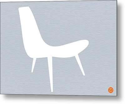 Eames White Chair Metal Print by Naxart Studio